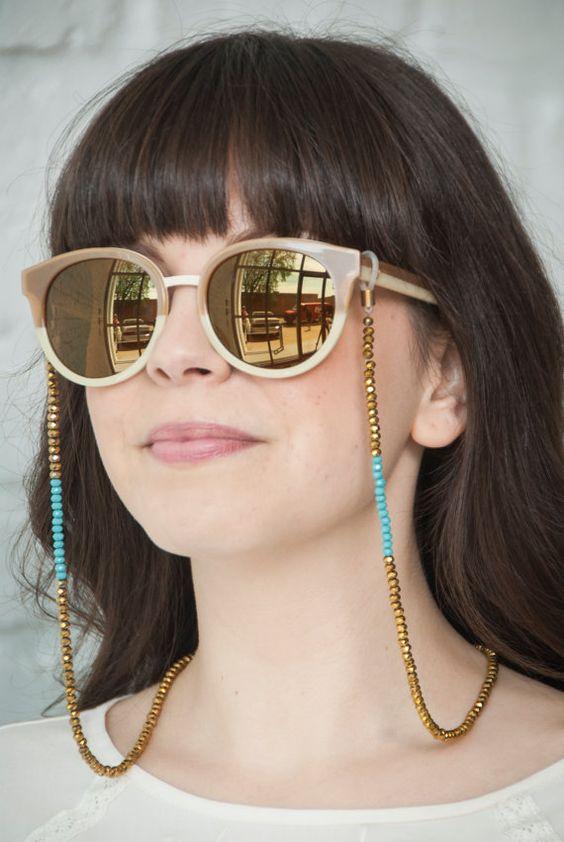 corrente para óculos miçanga