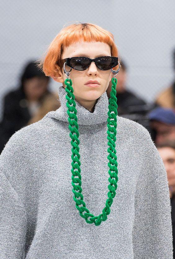 corrente para óculos verde