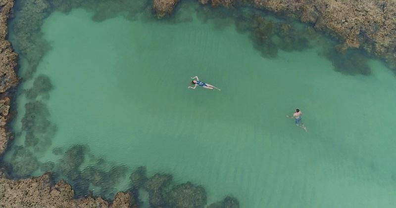 deisi remus gui cury foto com drone são miguel dos milagres piscina natural