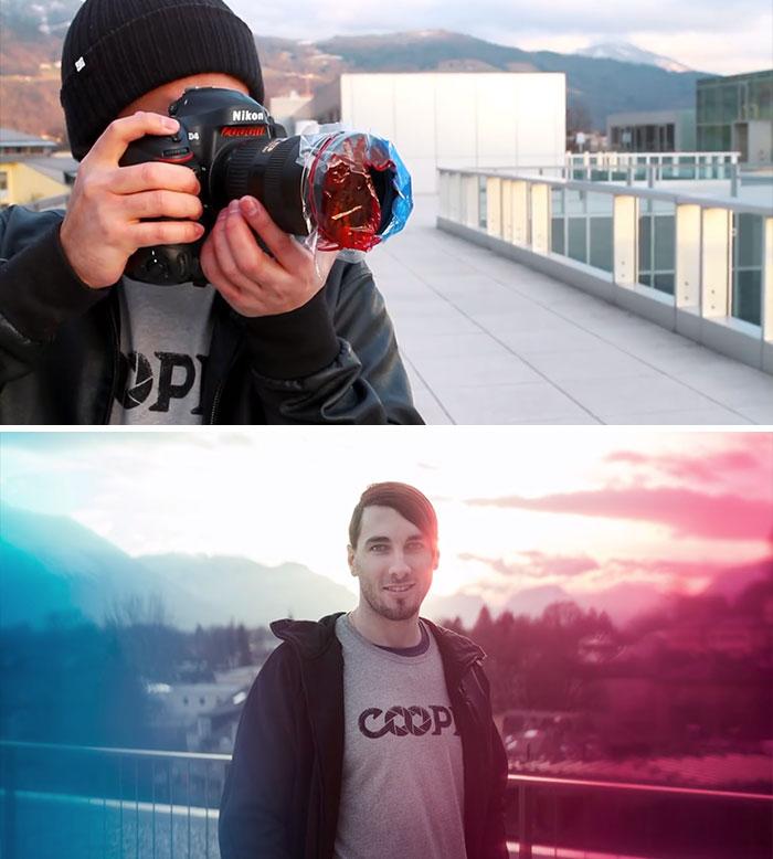 filtro colorido