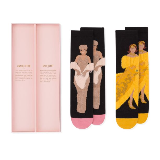 meias rihanna com looks icônicos