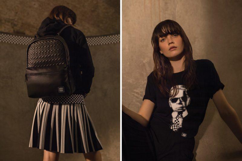 mochila e camsieta VANS com Karl Lagerfeld