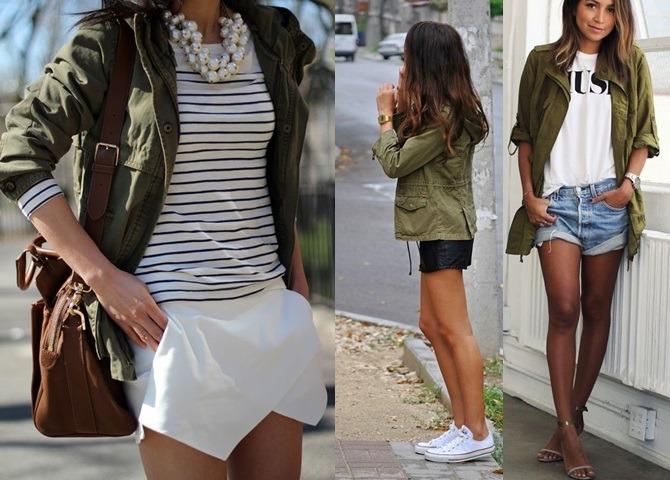 parka looks com shorts