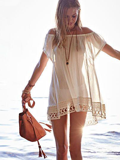 vestido cor crua saida de praia