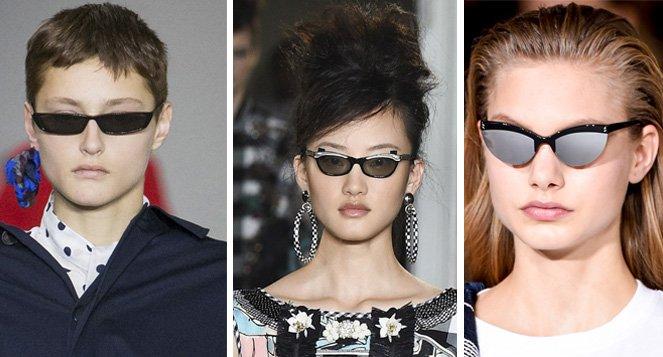 óculos de sol com mini lentes passarela