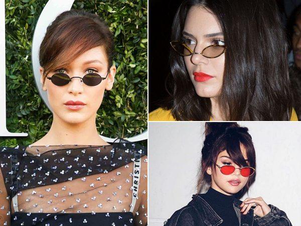 óculos de sol com mini lentes tendência