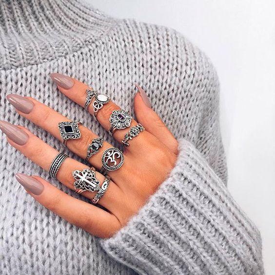 aneis de falange de prata