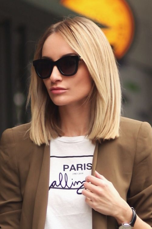 corte de cabelo 2018 blunt cut tendência