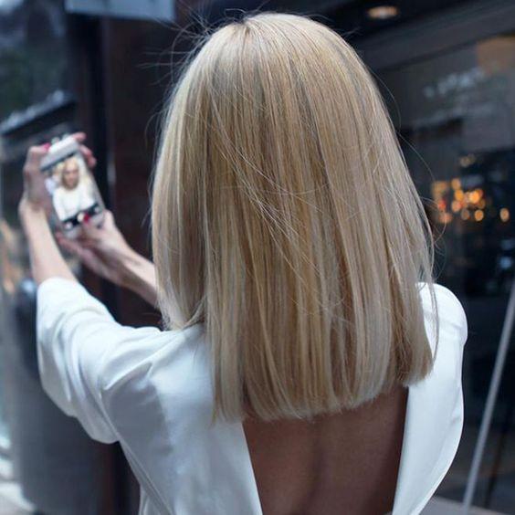 corte de cabelo 2018 blunt cut