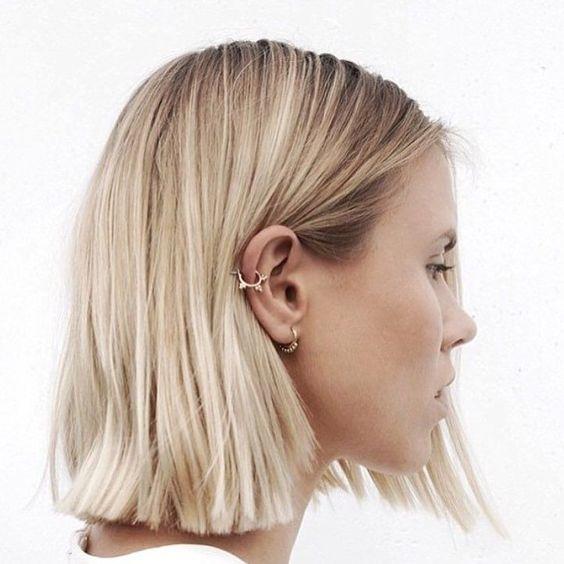 corte de cabelo 2018 corte reto