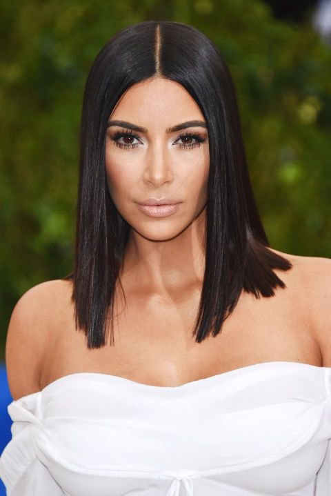 corte de cabelo 2018 kim kardashian blunt cut