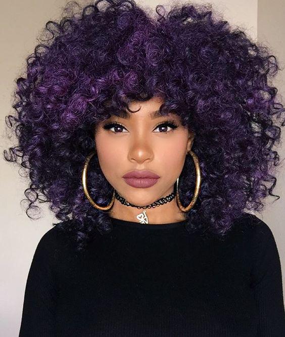 cortes de cabelo crespo médio 2018