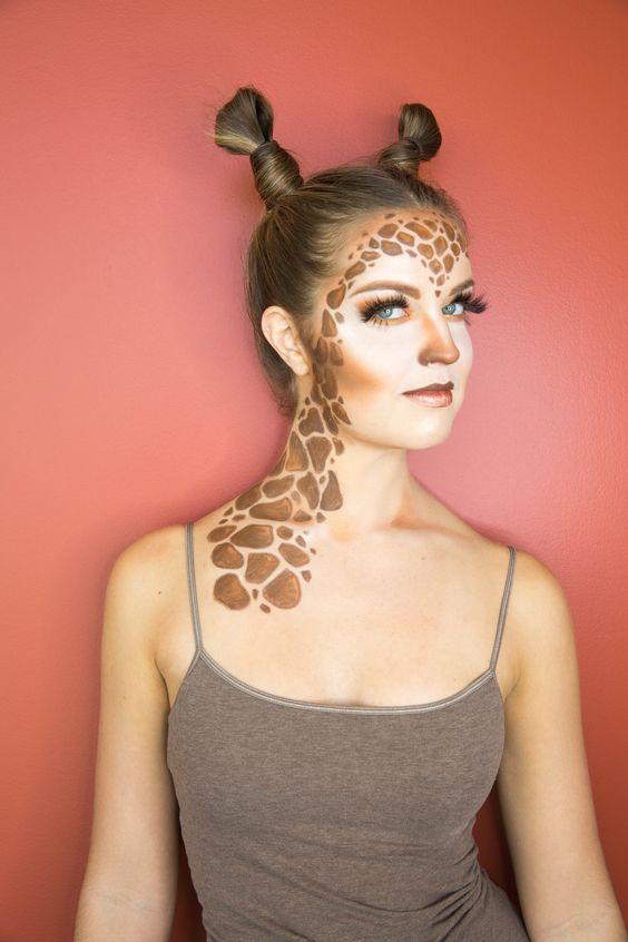 fantasia criativa e fácil de fazer girafa