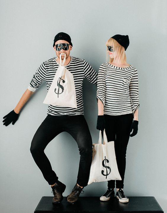 fantasia criativa e fácil de fazer ladrão