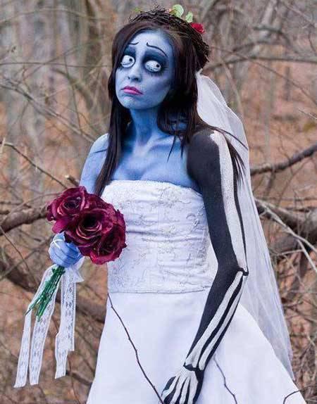 fantasia criativa e fácil de fazer noiva cadaver