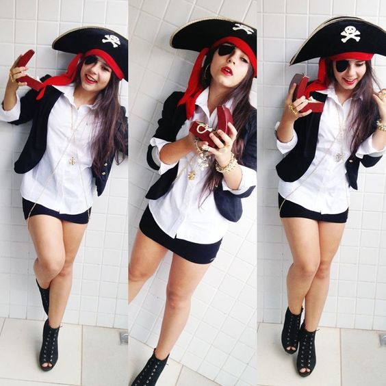 fantasia criativa e fácil de fazer pirata