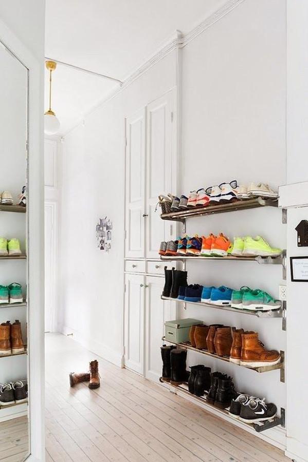 ideias criativas de porta calçados