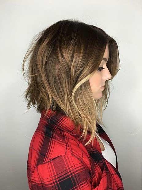 long bob com nuca curta cabelo 2018