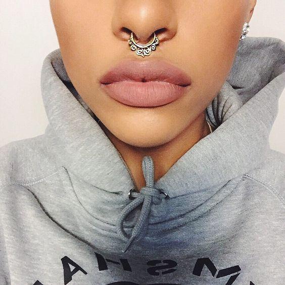 piercing no nariz septo modelos
