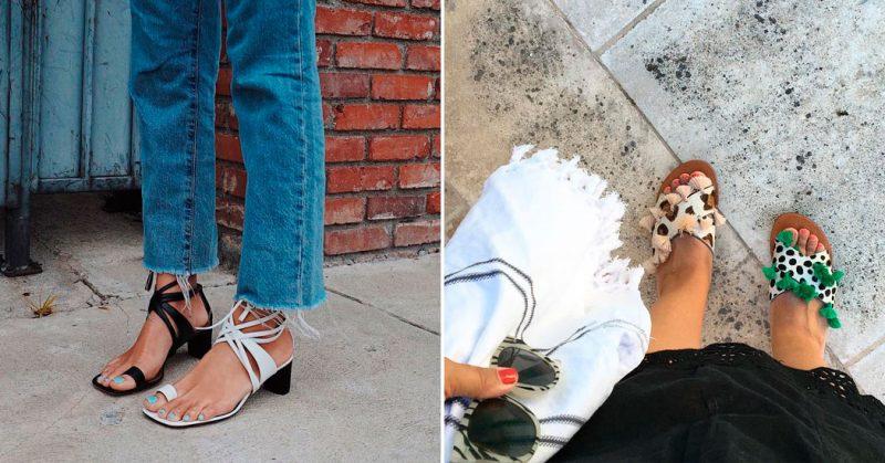 tendência calçados descombinados