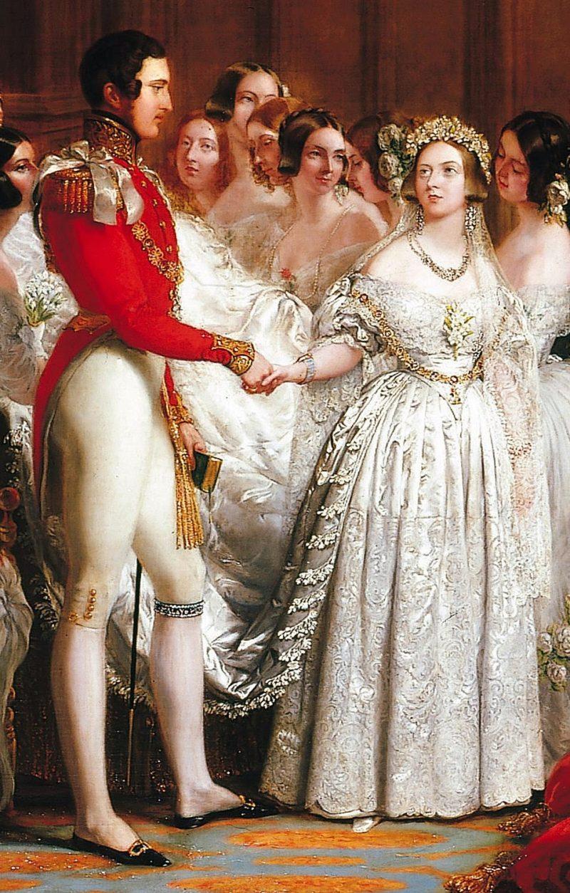 Rainha Victoria, do Reino Unido vestido de casamento