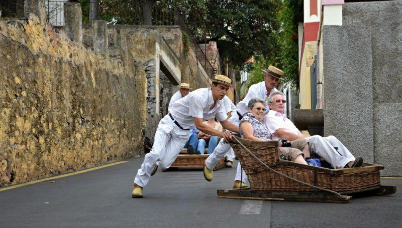 carro de cesto ilha da madeira