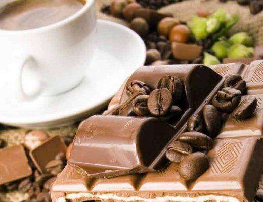 chocolate e café