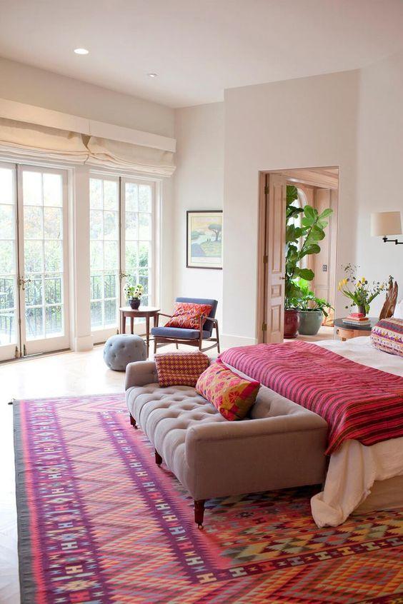 decoração de quarto com tapete