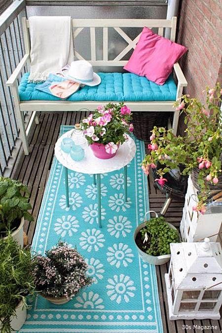 decoração de varnda com tapete