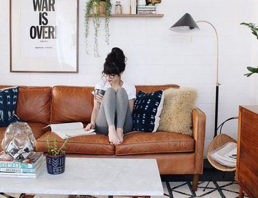 decoração moderna com tapete