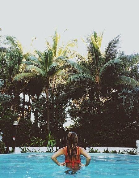 fotos criativas na piscina tumblr poses