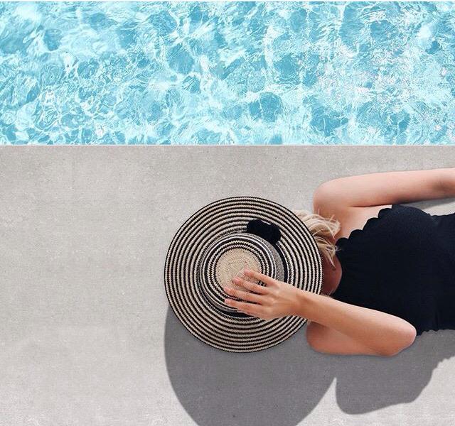 fotos na piscina