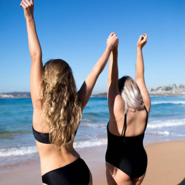 marca lança linha praia que dispensa absorvente