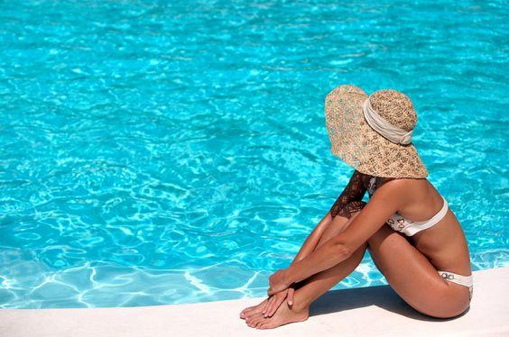 poses fotos na piscina