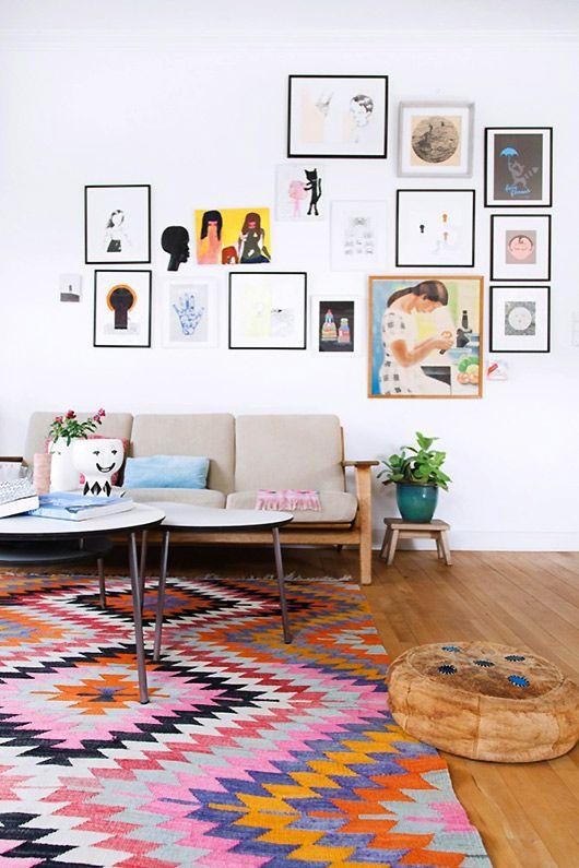 tapete colorido decoração