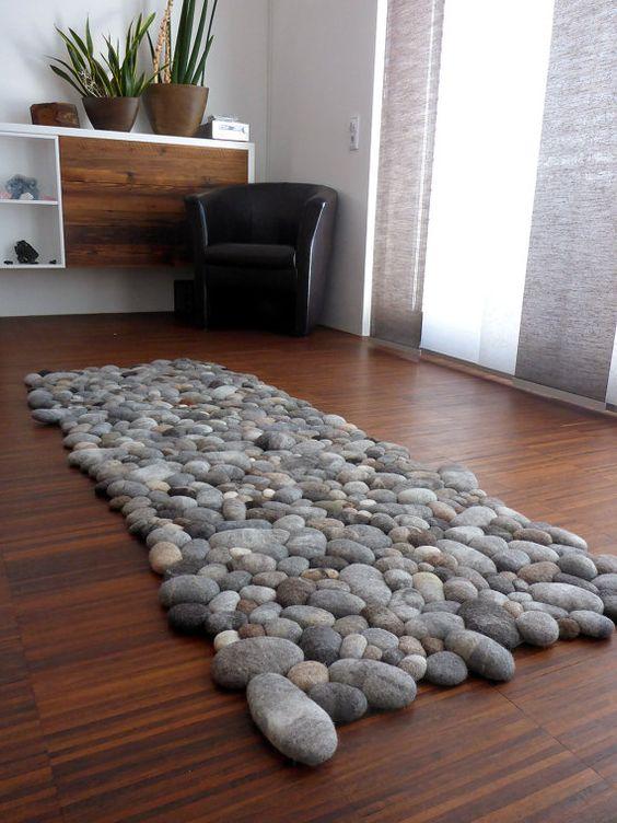 tapete estilo pedras decorção