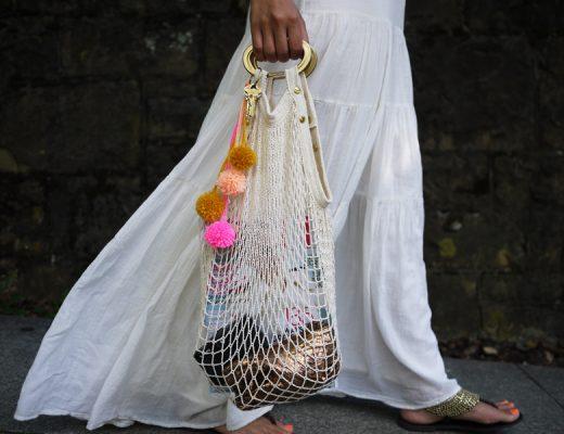 tendência de bolsa net bag bolsa de feira