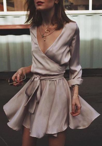 vestido envelope de festa