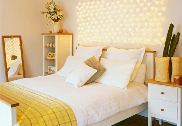 decoração iluminação com pisca pisca quarto decorado