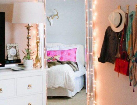 decoraçãoo com luz de natal