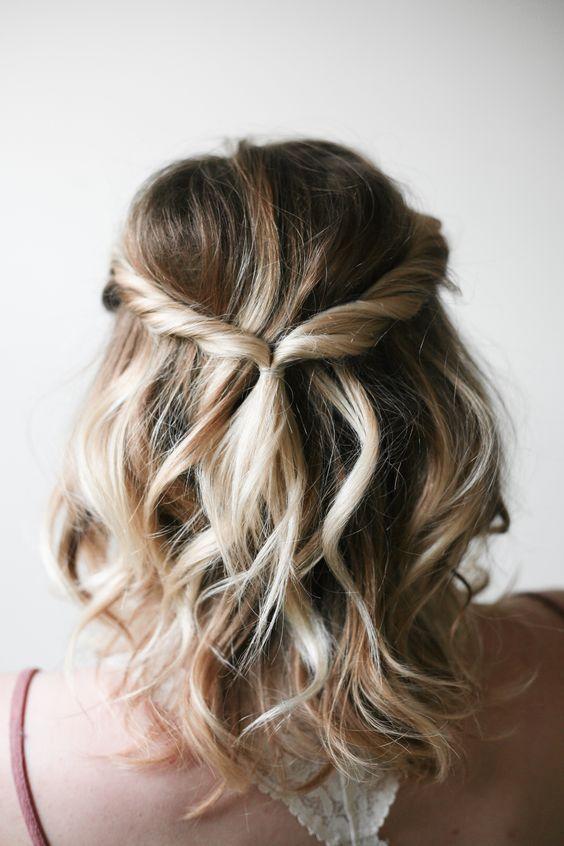 penteado cabelo curto madrinha de casamento