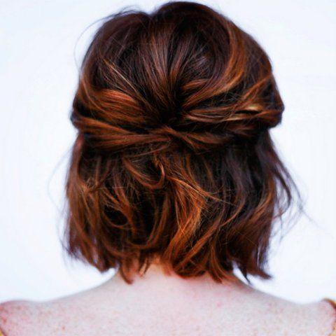 penteado madrinha de casamento cabelo curto preso