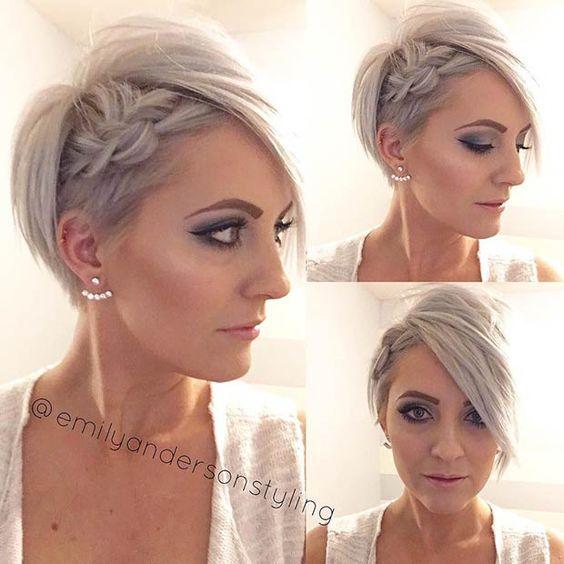 penteado madrinha de casamento cabelo curto trança de lado