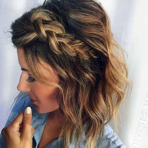 penteado madrinha de casamento cabelo curto trança
