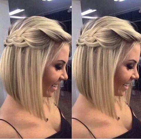 penteado madrinha de casamento durante o dia long bob
