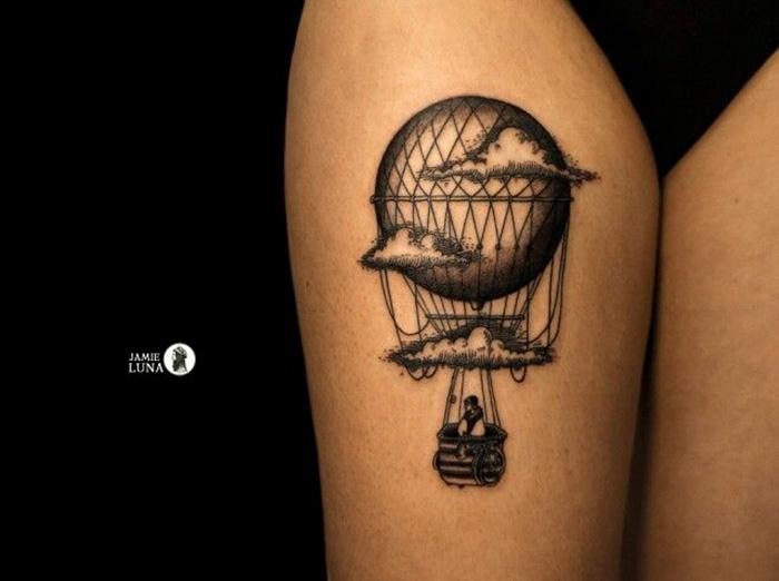 tatuagem de balão