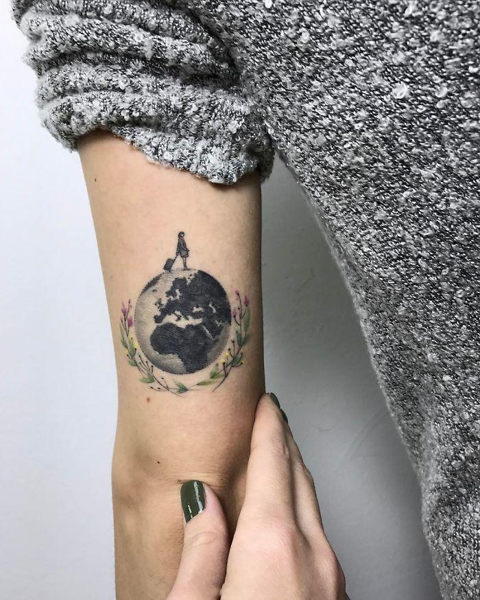 tatuagem de mundo