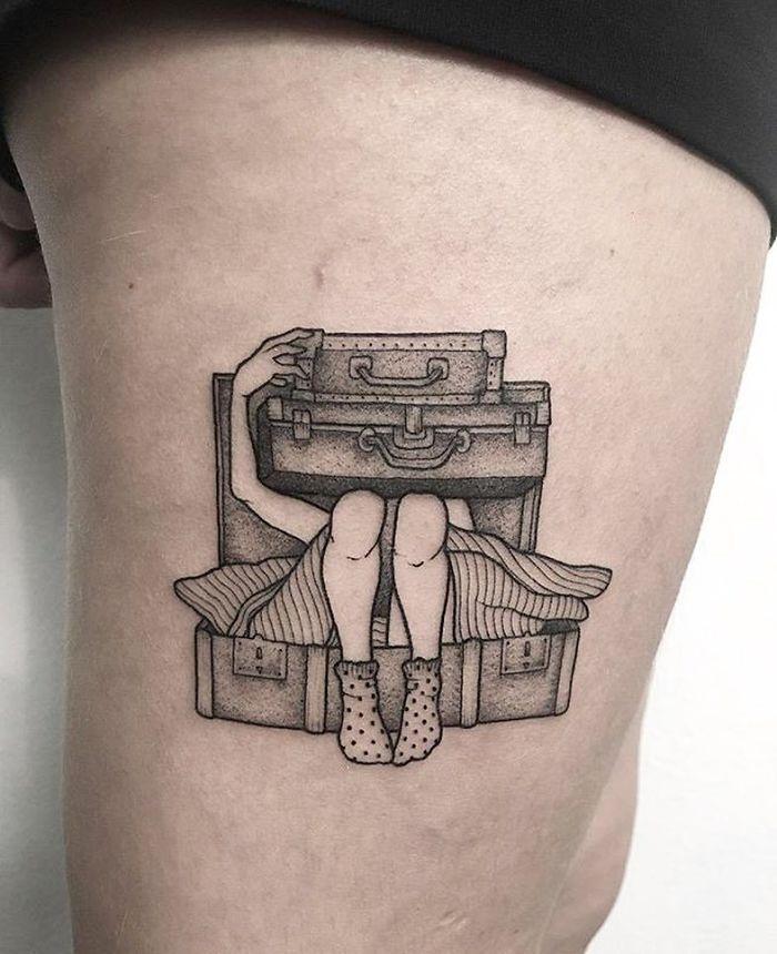 tatuagem para quem ama viajar