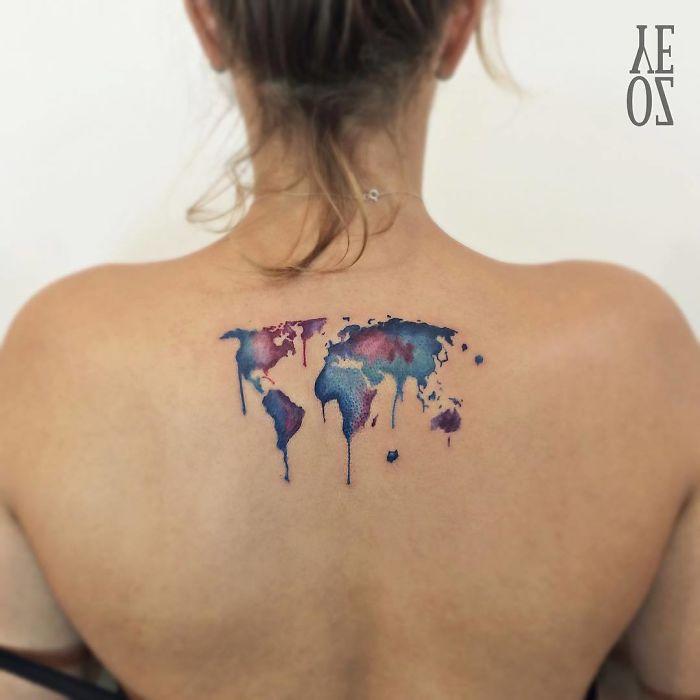 tatuagem para quem gosta de viajar mapa