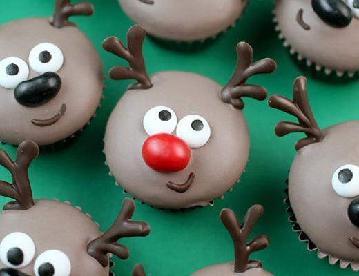 cupcake com motivos natalinos